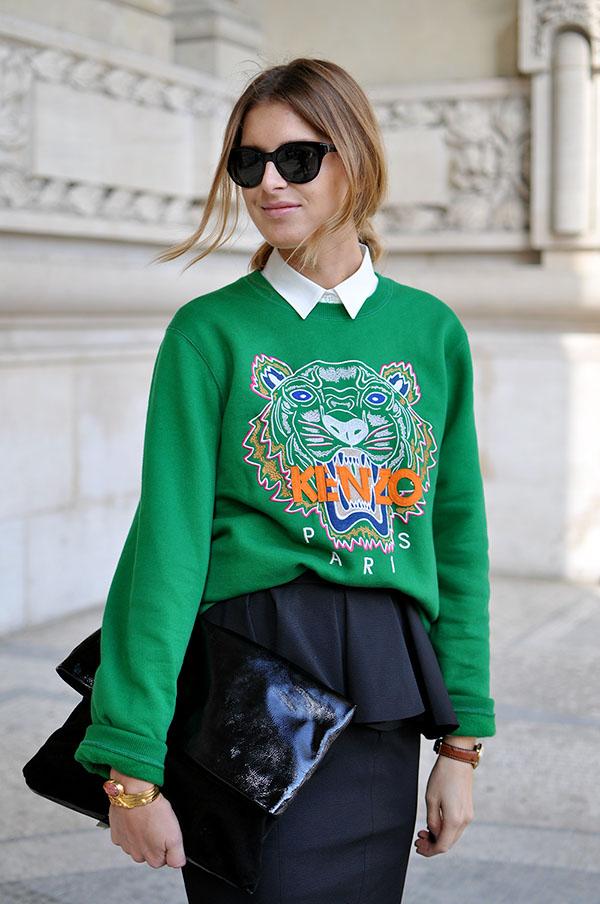 kenzo green sweater