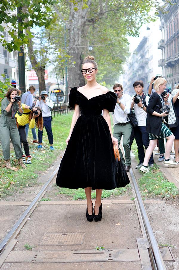 Ulyana Sergeenko Milan D&G