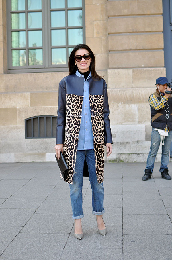 leopard print coat
