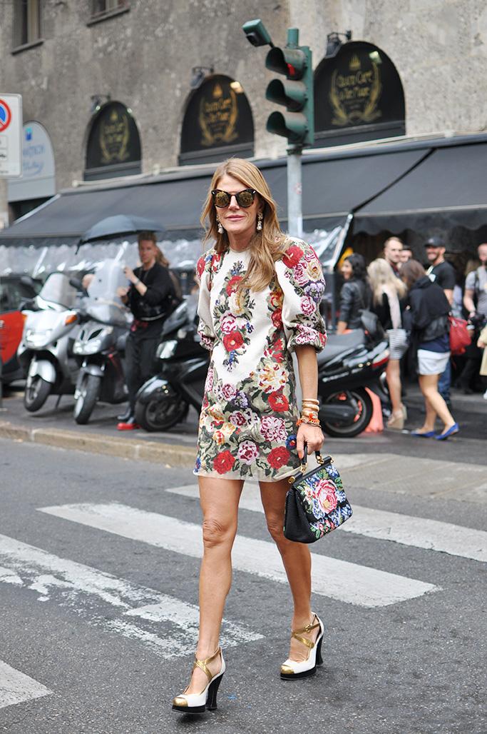 Anna dello Russo wearing dolce & gabbana