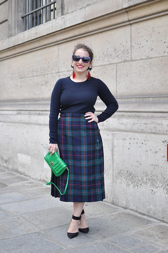 long tartan skirt