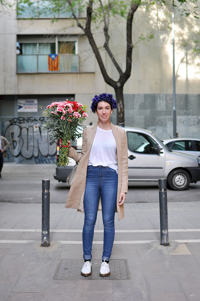 Julia wearing Masimmo Dutti and Asos, Barcelona