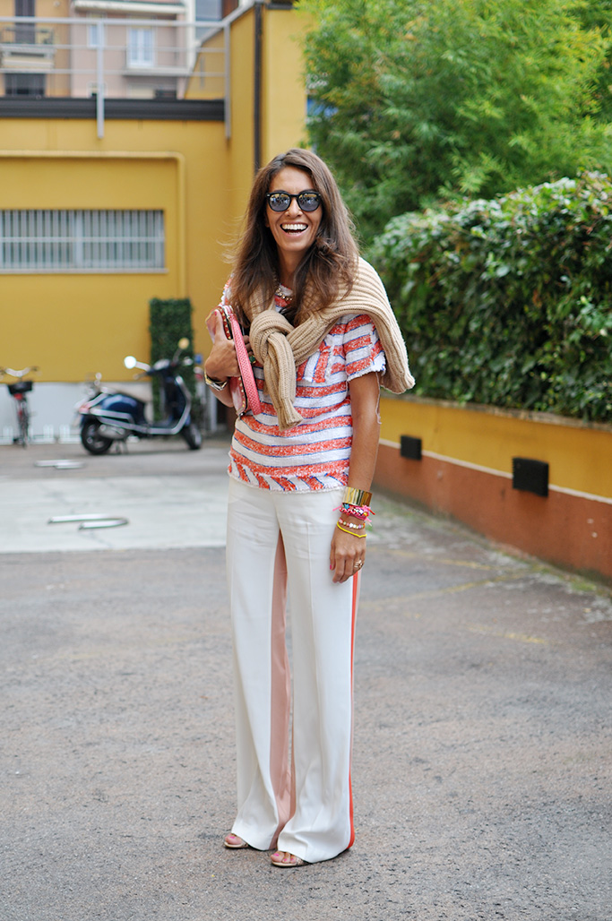 Viviana Volpicella wearing MSGM
