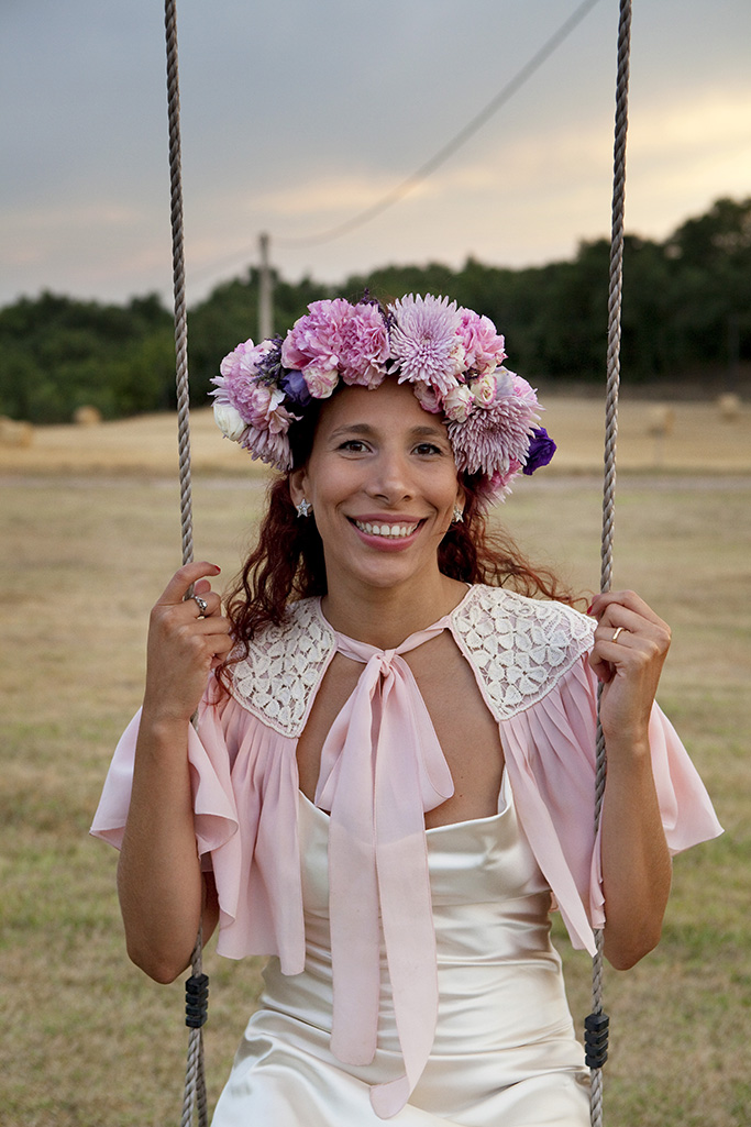 swing- wedding flower crown