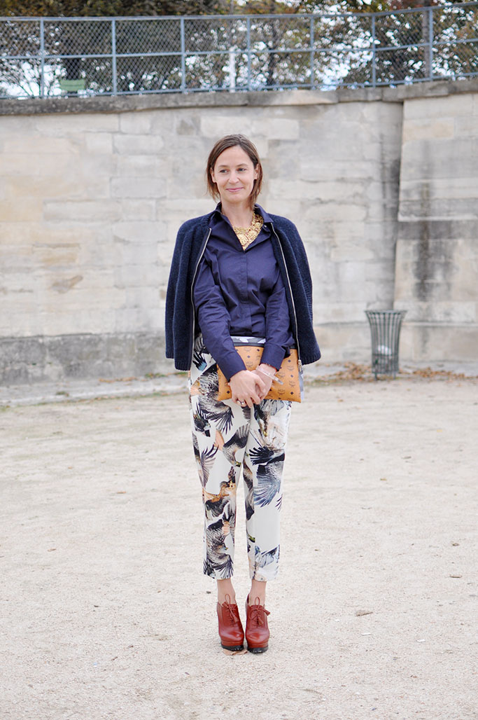 Printed trousers paris