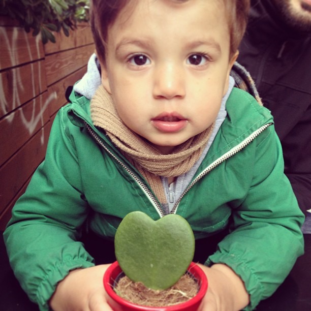 Noah with a cactus