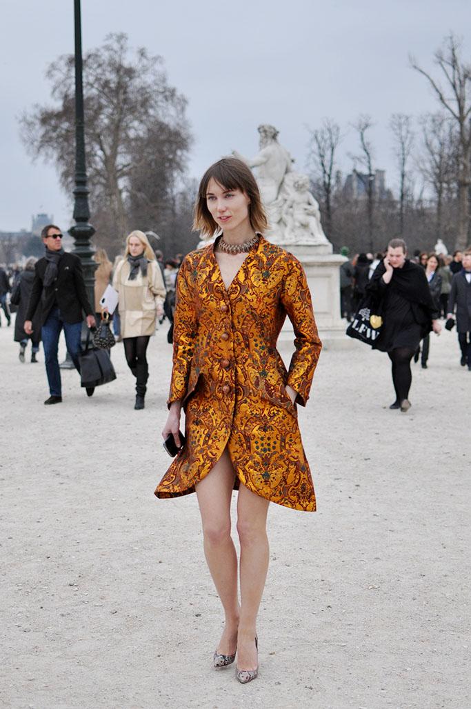 Anya Ziourova wearing Vika Gazinskaya