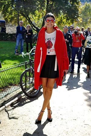 Giovanna Battaglia wearing Comme des Garçons
