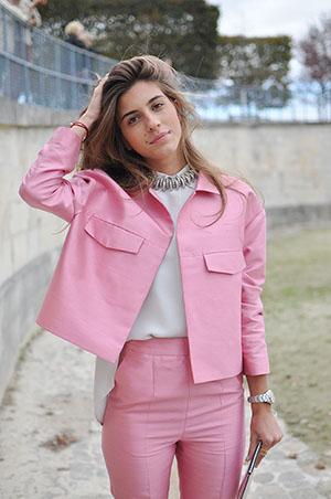 isa arfen pink suit