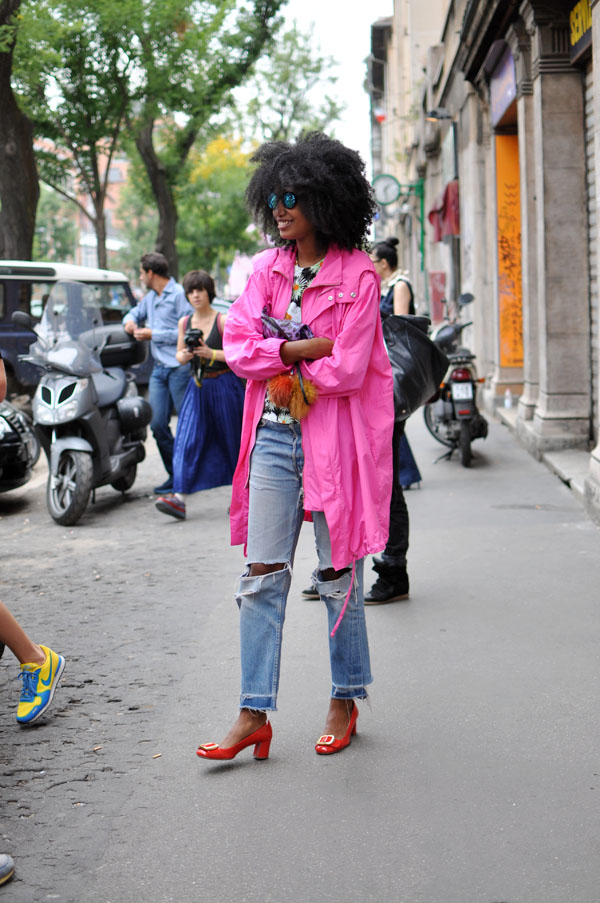 Julia Sarr-Jamois in pink
