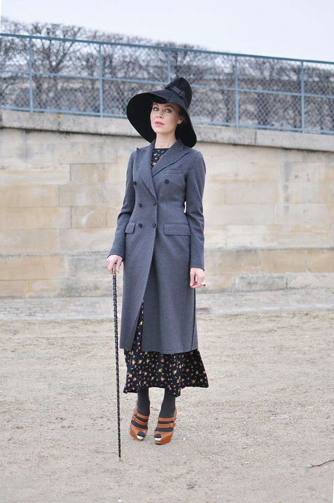 Ulyana Sergeenko wearing a hat
