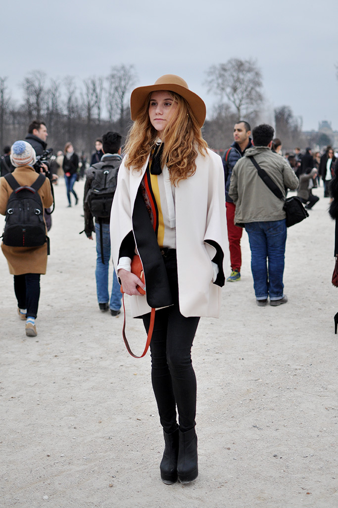girl with a hat, paris fashion week