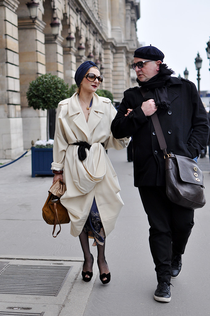 Stylist Catherine Baba in Paris