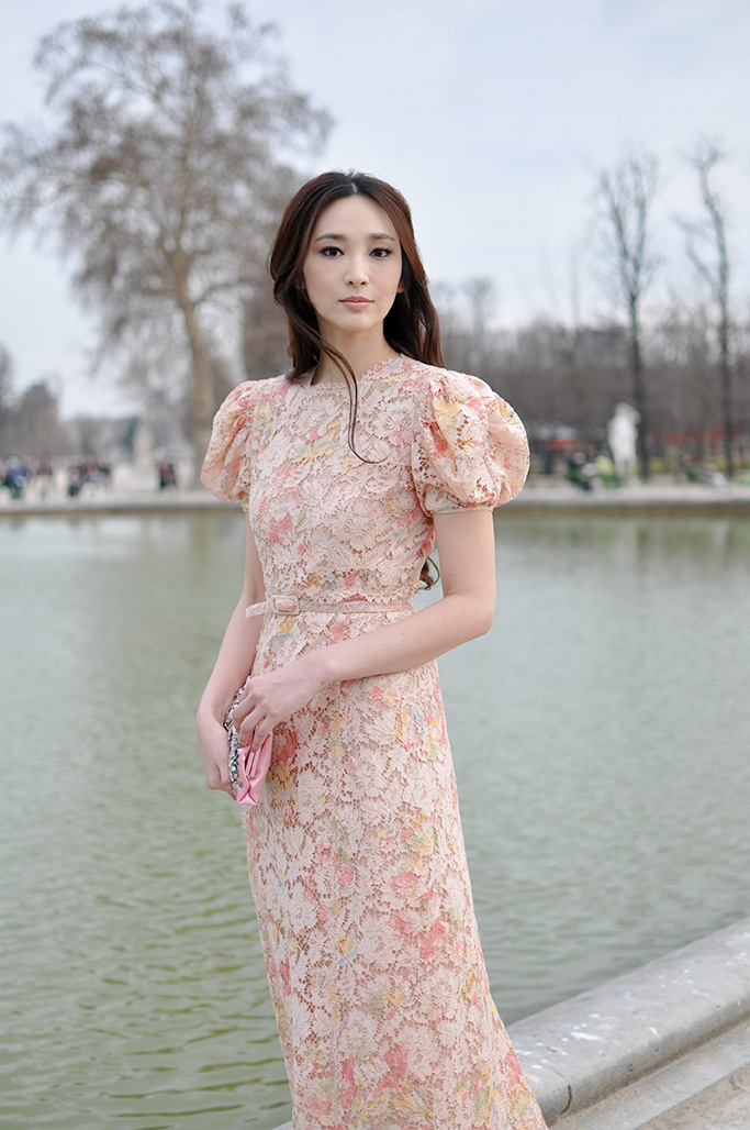 Actress Pace Wu at valentino