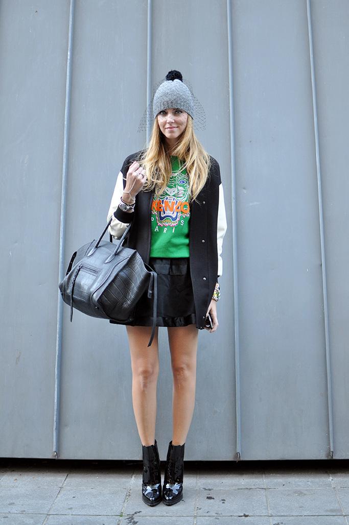 Chiara Ferragni wearing Kenzo