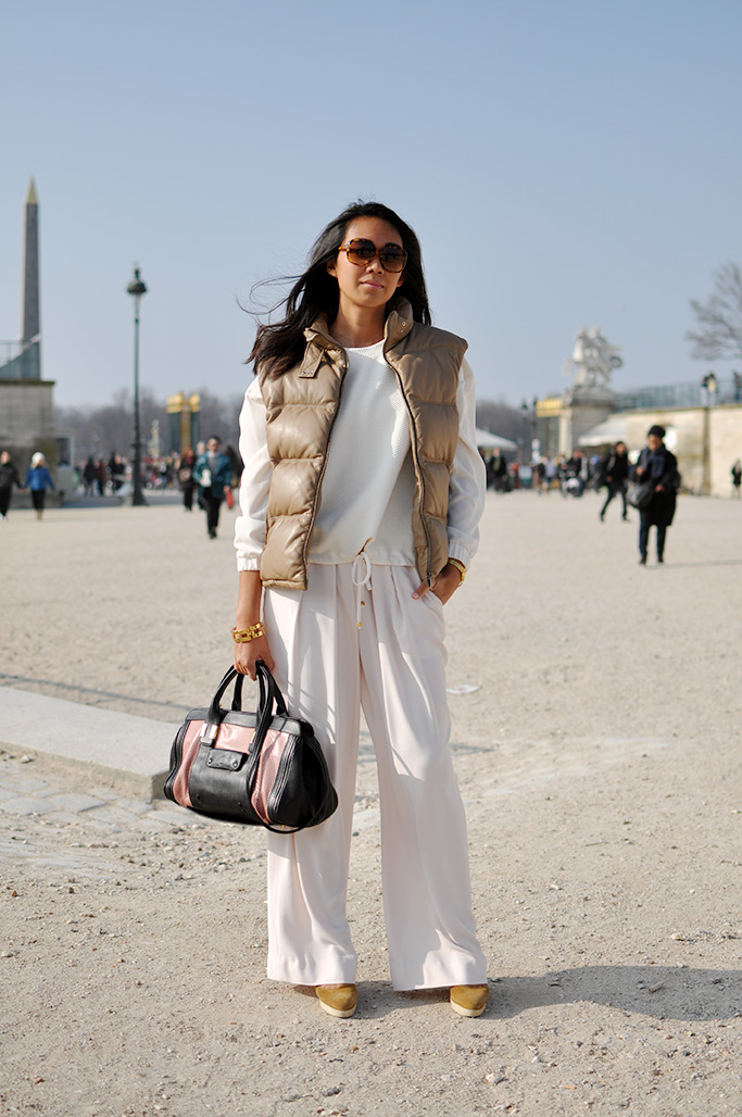 girl in pink and white, paris