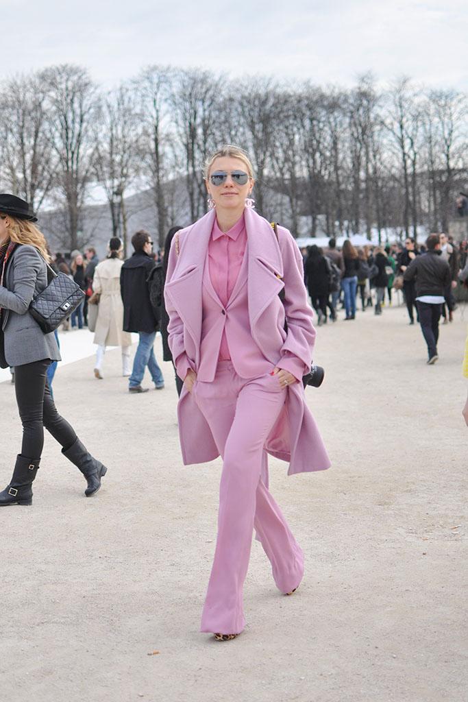 Zhanna Romashka in pink