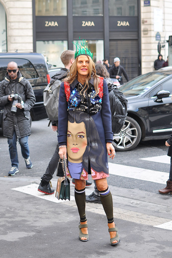 Anna dello Russo Prada pop art coat spring 2014