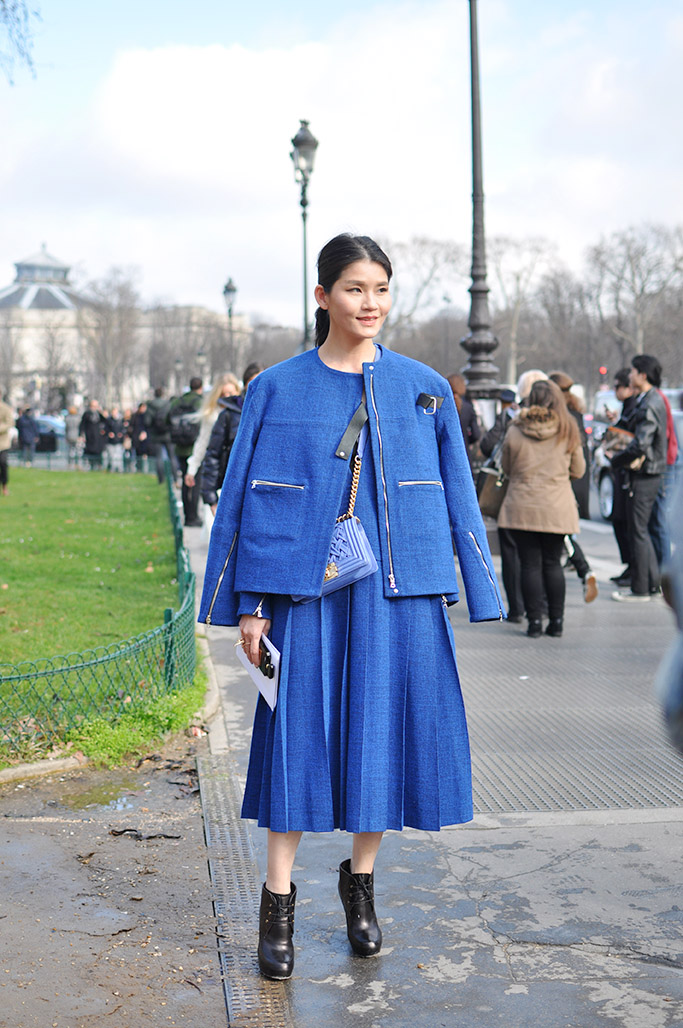 Blue, Chanel Street Style