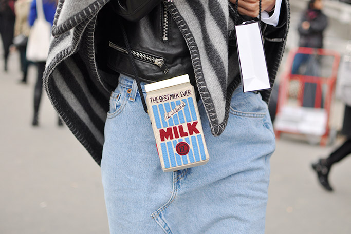 Olympia Le-Tan Milk Box Clutch