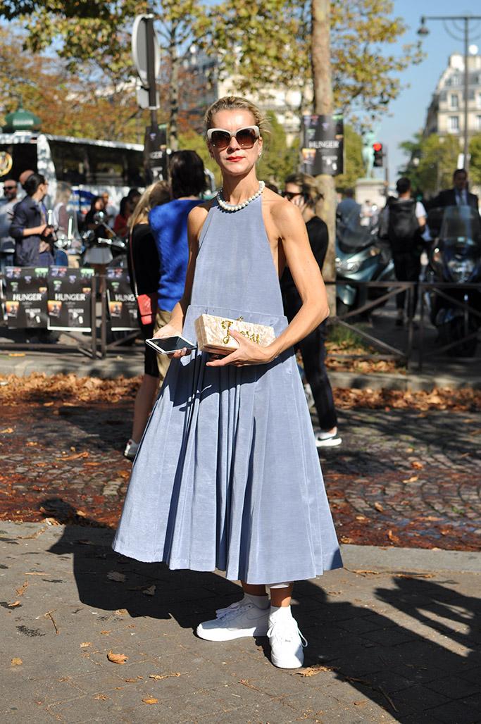 Natalie Joos wearing Natasha Zinko dress