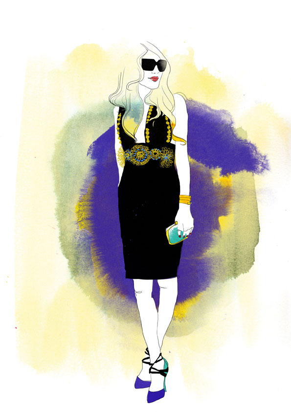 Anna Dello Russo Illustration