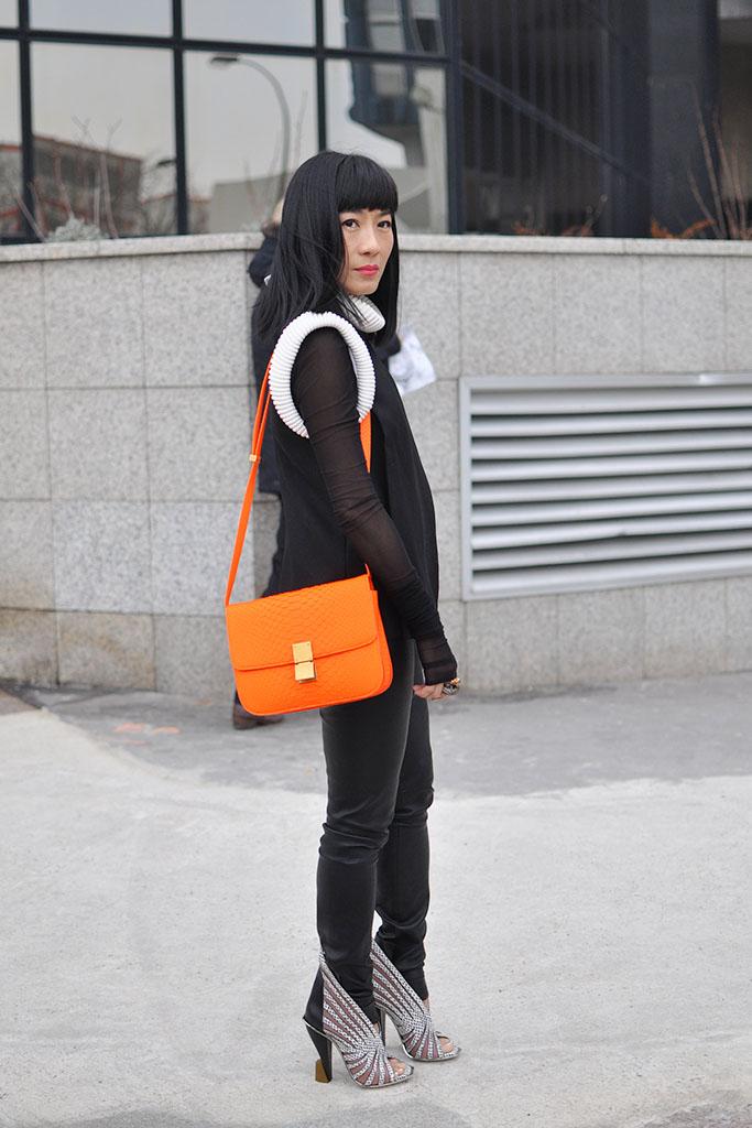 orange neon bags