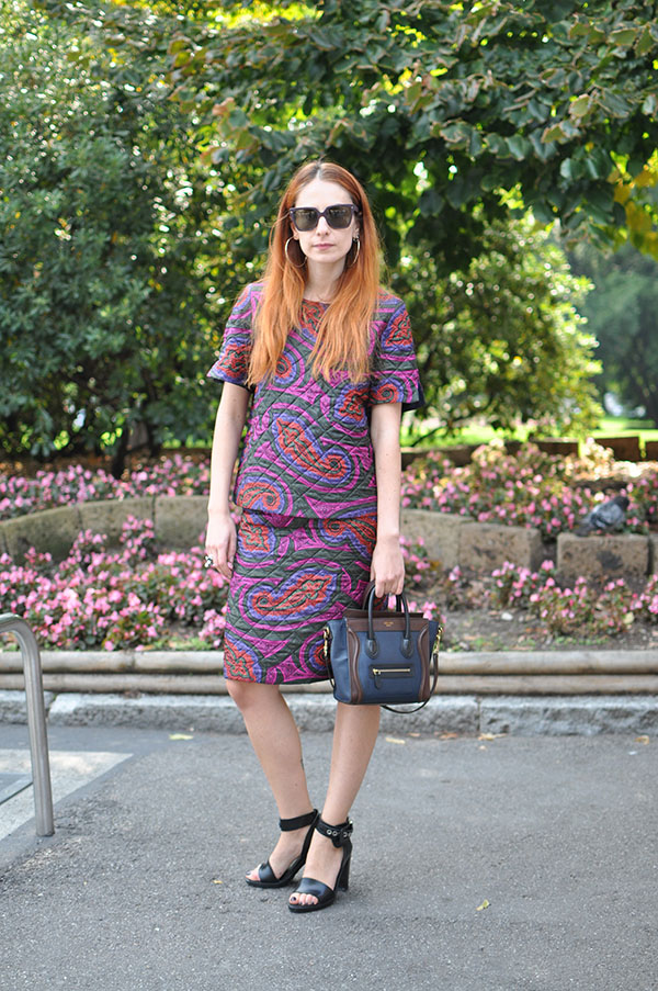 pattern midi skirt