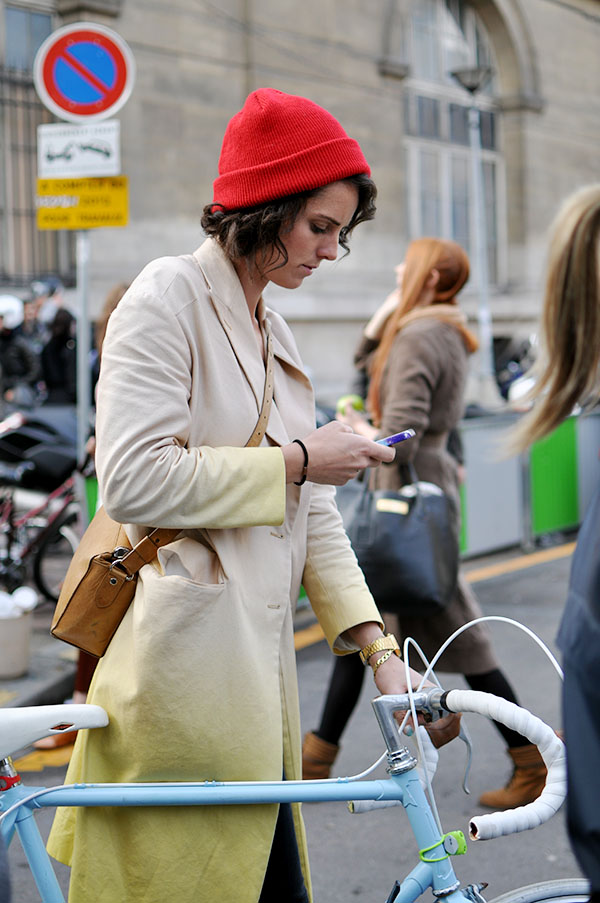 coat and bike