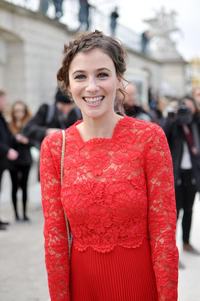 Melanie Bernier in red