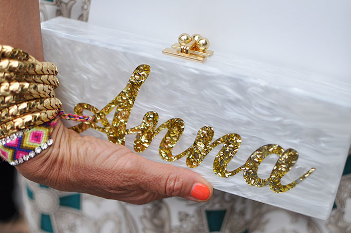 Edie Parker clutch for Anna Dello Russo