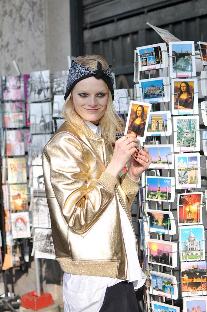 Hanne Gaby Odiele postcard