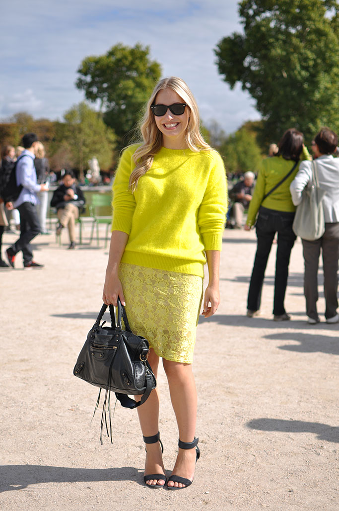 neon yellow, paris
