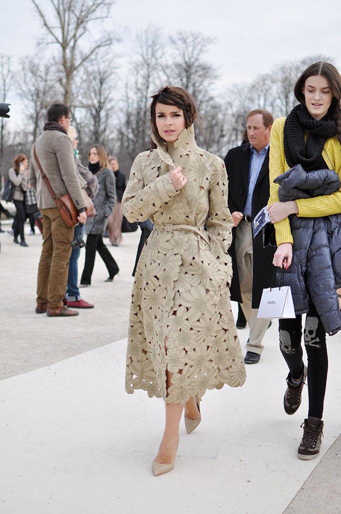 Miroslava duma in a valentino coat