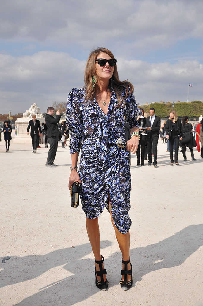 Anna Dello Russo Balenciaga dress