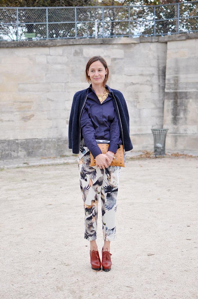 Printed trousers paris