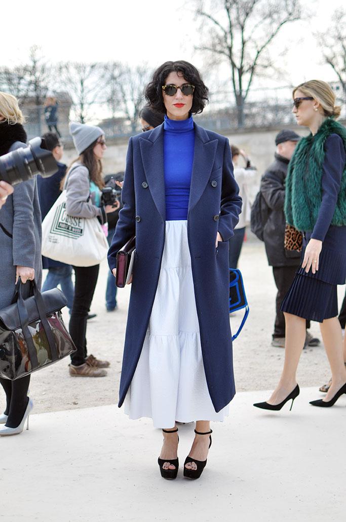 Yasmin Sewell metallic skirt