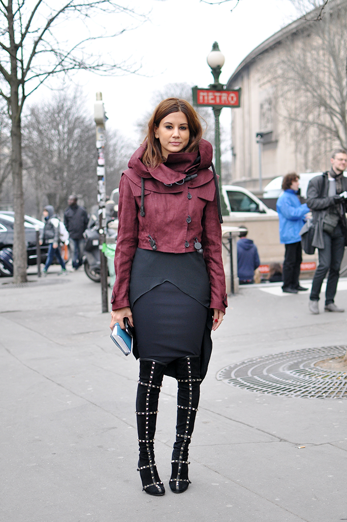 Christine Centenera knee high boots