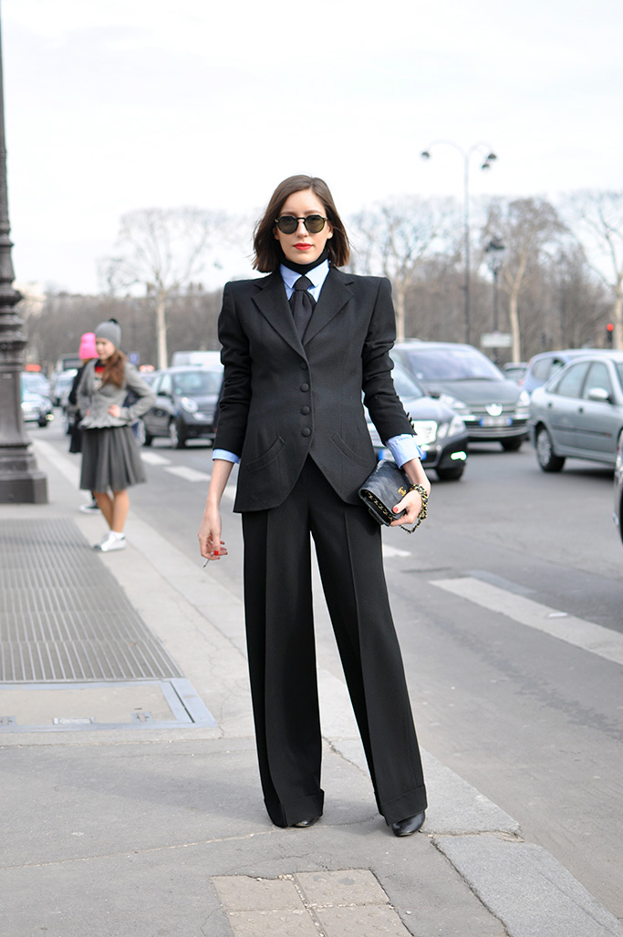 Girl in suit, paris