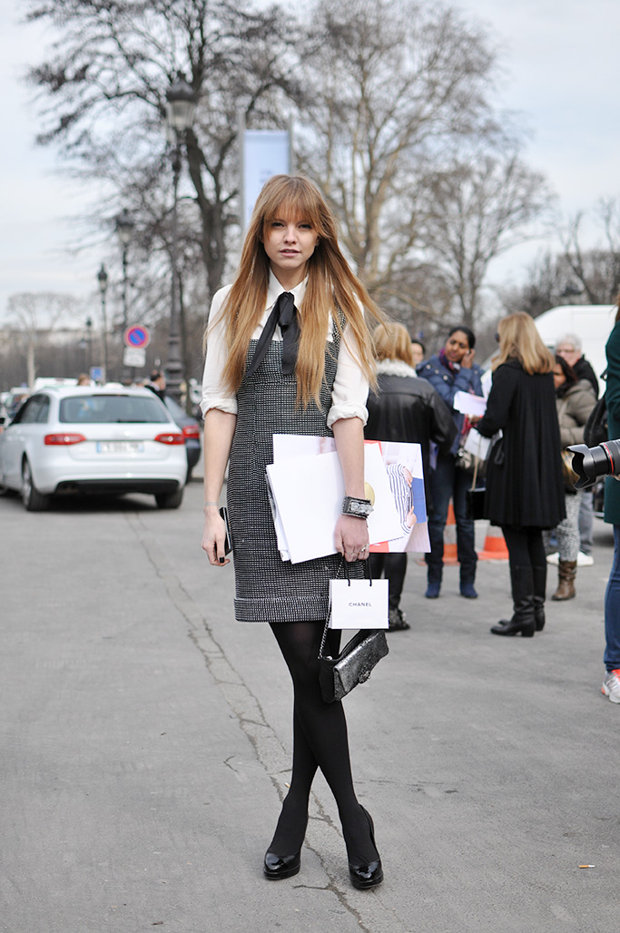 laura hayden after Chanel show