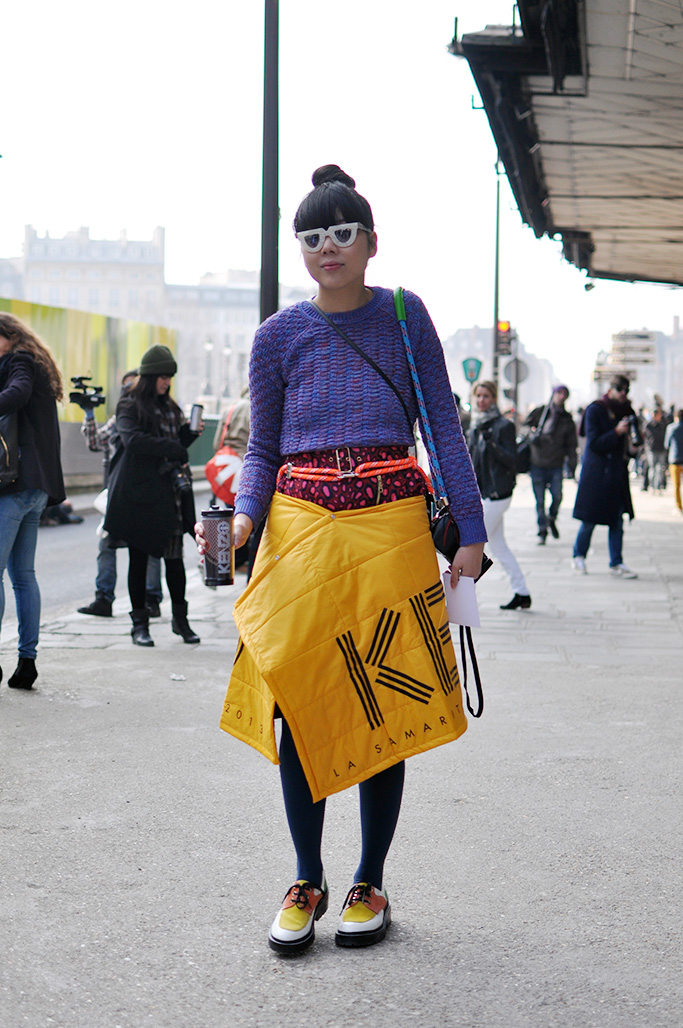 Susie Bubble after the Kenzo show