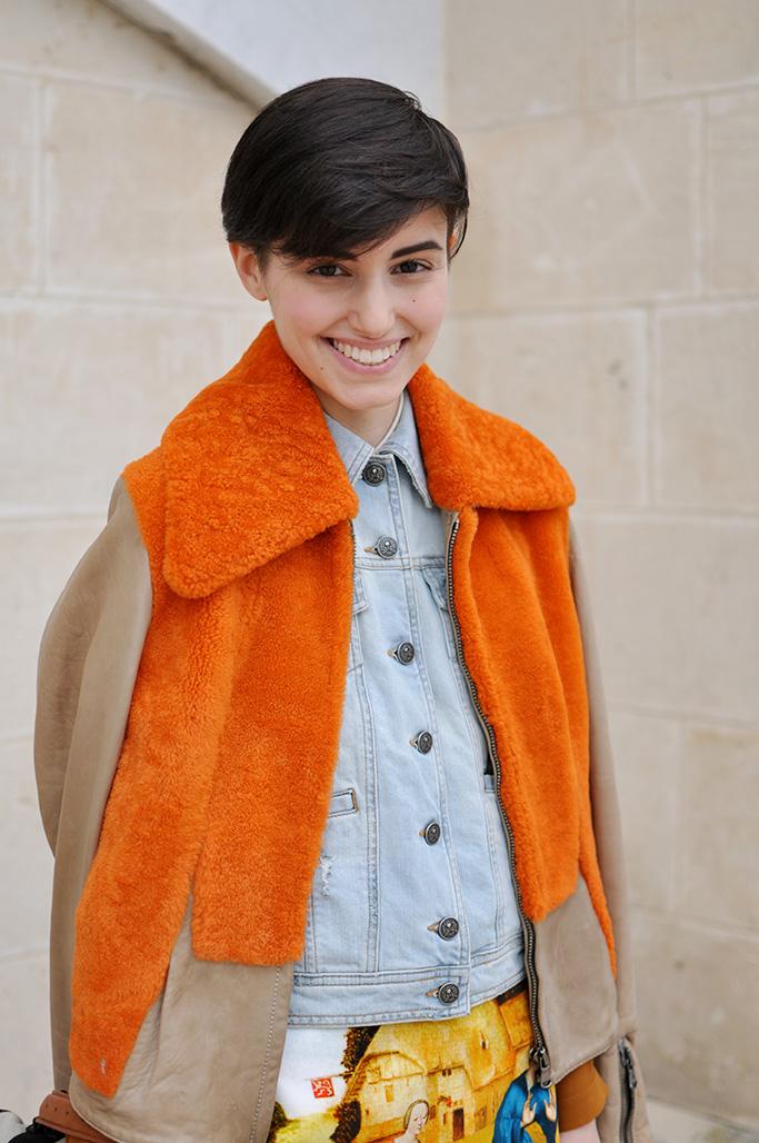 Anne-Catherine Frey with orange jacket
