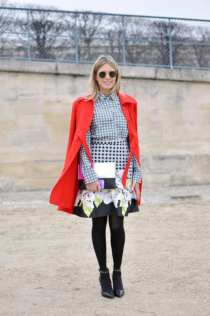 Helena bordon in paris fashion week