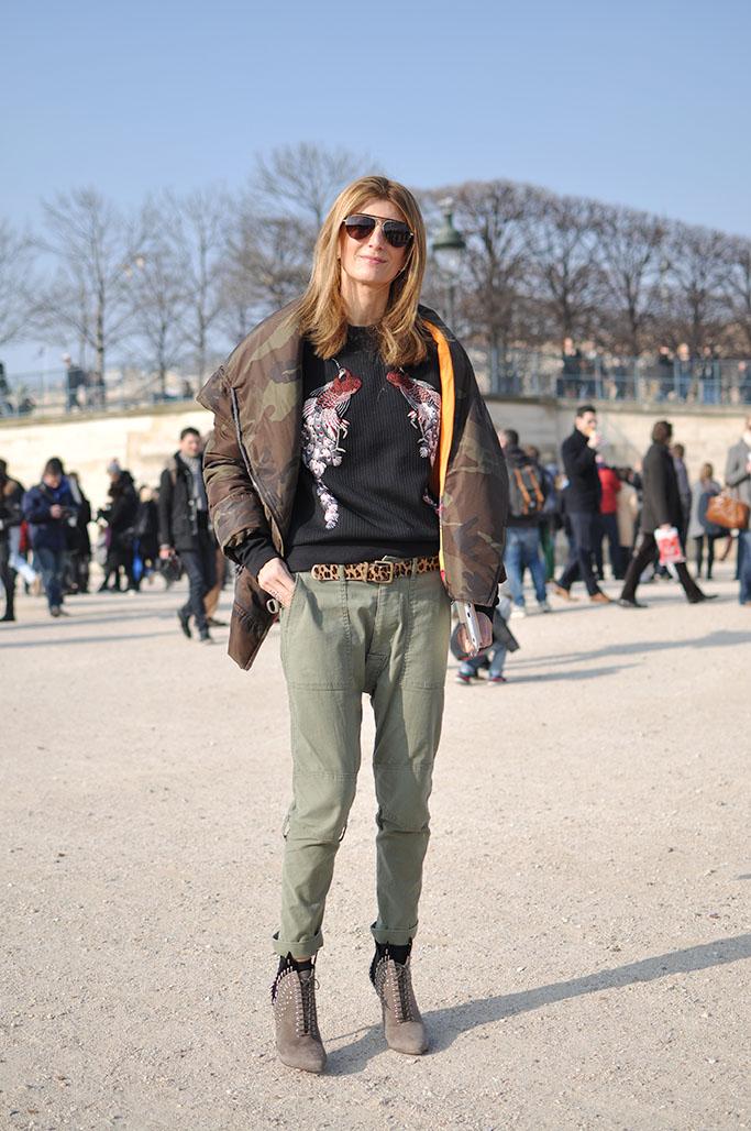 Sarah Rutson wearing camouflage