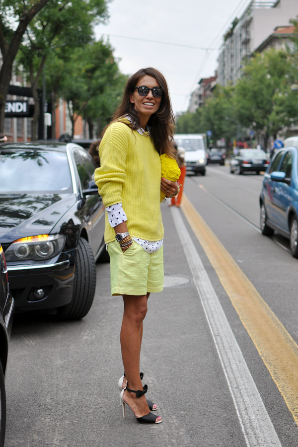 Viviana Volpicella in milan fashion week