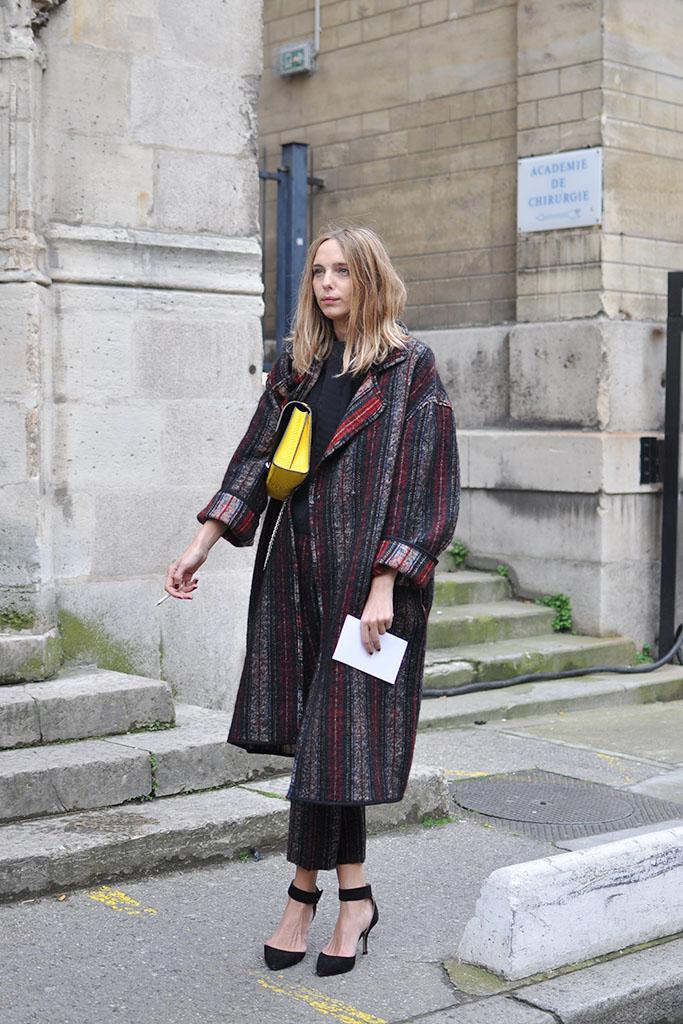 Girl with oversized coat