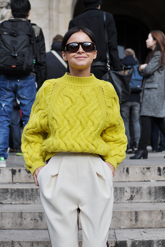 Miroslava Duma wearing Delpozo