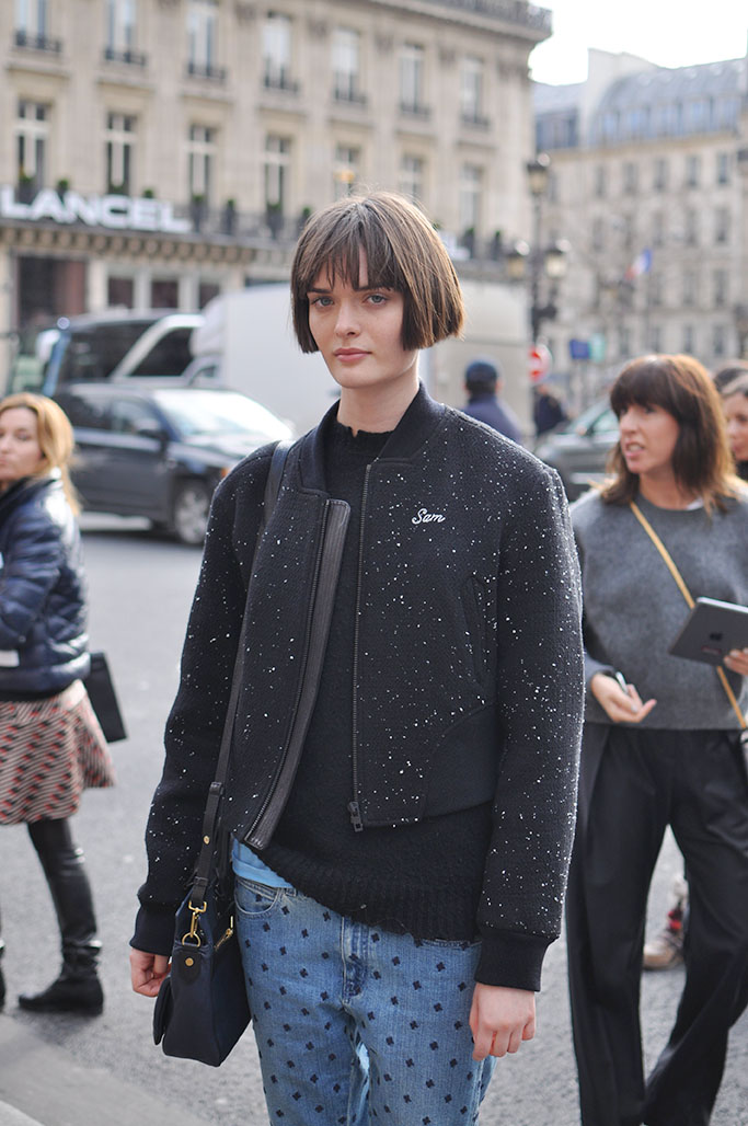 Sam Rollinson, model paris street style