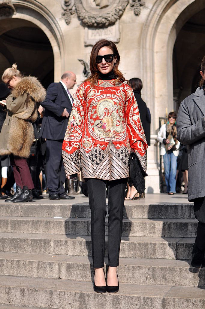Ece Sukan in red and gold kimono