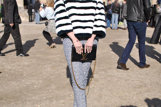 Striped jacket at Louis Vuitton